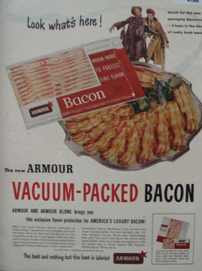 Armour Star Bacon 1949 Ad