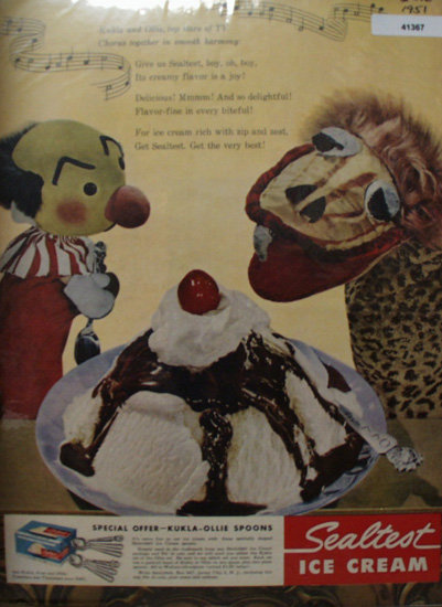 Sealtest Ice Cream 1951 Ad