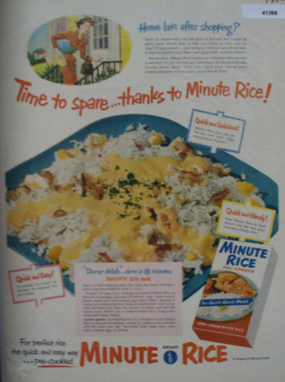 Minute Rice From General Foods 1952 Ad