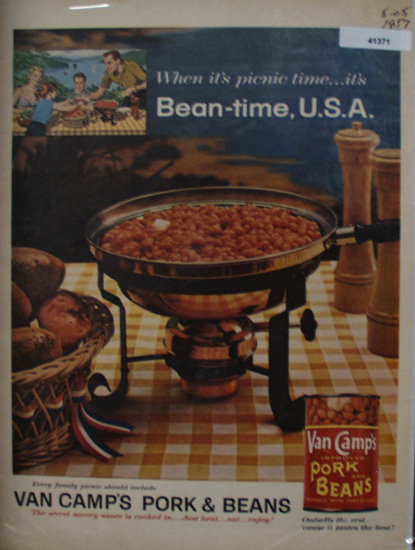 Van Camps Pork And Beans 1957 Ad