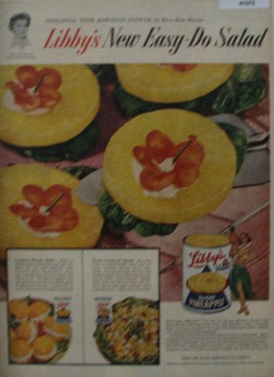 Libbys Sliced Pineapple 1956 Ad