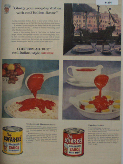 Chef Boy Ar Dee Sauces 1956 Ad