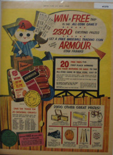 Armour Star Franks 1960 Ad