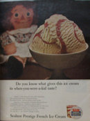 Sealtest Prestige French Ice Cream 1966 Ad