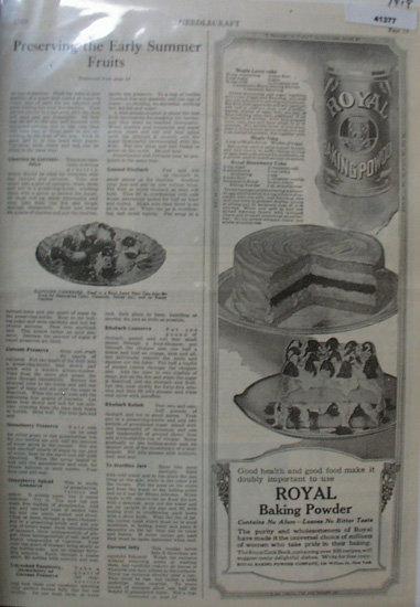 Royal Baking Powder 1919 Ad