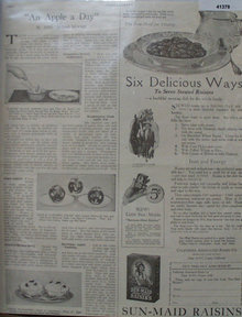 Sun Maid Raisins 1921 Ad