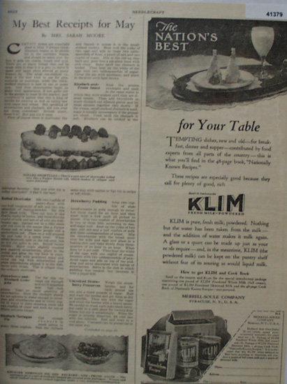 Kilm Fresh Milk Powdered 1923 Ad