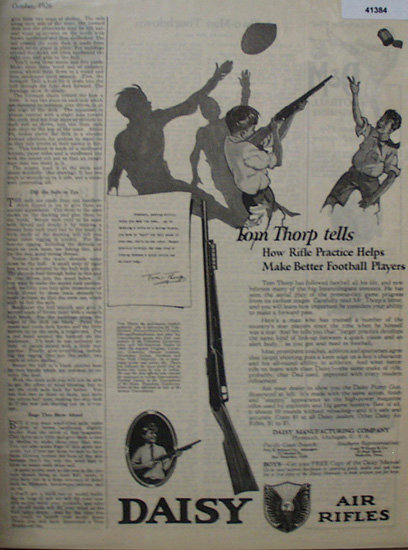 Daisy Air Rifles 1926 Ad