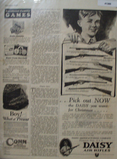 Daisy Air Rifles 1927 Ad