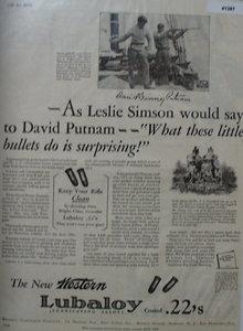 Western Lubaloy Cartridge 1929 Ad.