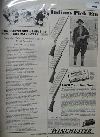 Winchester Guns And Ammunition 1934 Ad