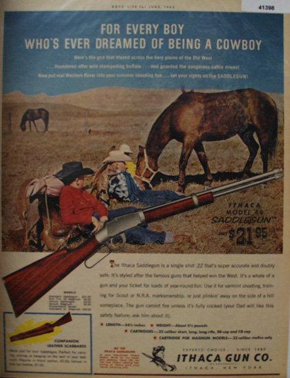 Ithaca Gun Co. Saddle gun 1962 Ad