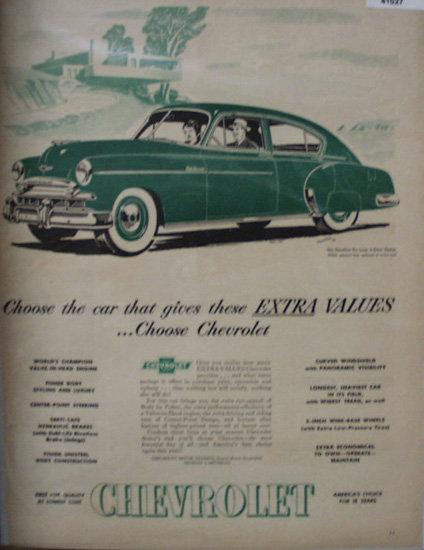 Chevrolet Motor Division 1949 Ad