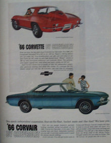 Chevrolet Corvair And Corvette 1965 ad