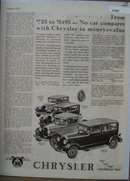 Chrysler Cars 1927 Ad