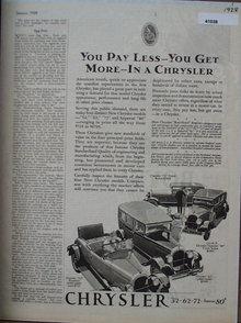 Chrysler Cars 1928 Ad