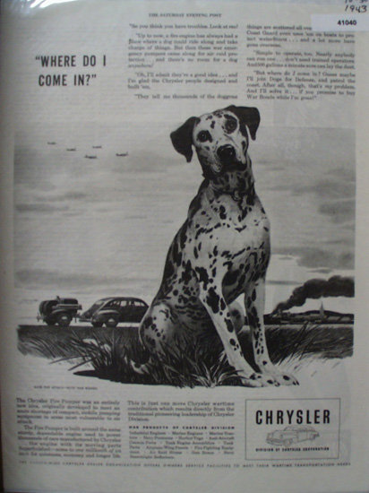 Chrysler Division of Chrysler Corporation 1943 Ad