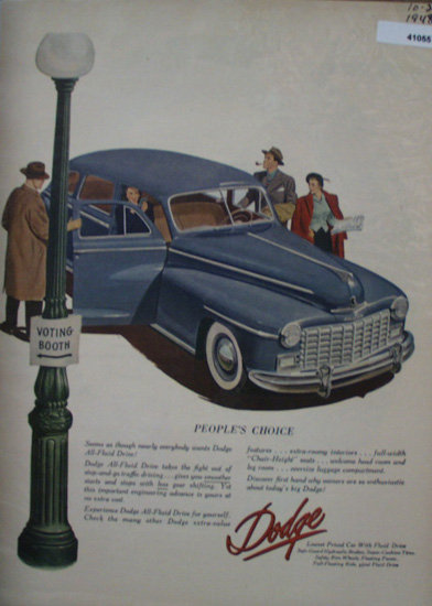 Dodge With Fluid Drive 1948 Ad