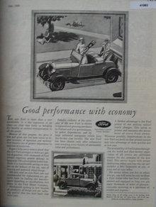 Ford Motor Company 1929 Ad