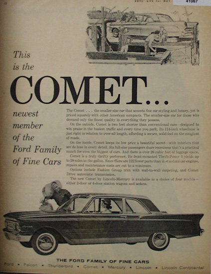Ford Motor Company Comet 1960 Ad