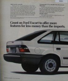 Ford Escort 1989 Ad