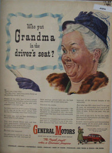 General Motors Cars 1946 Ad