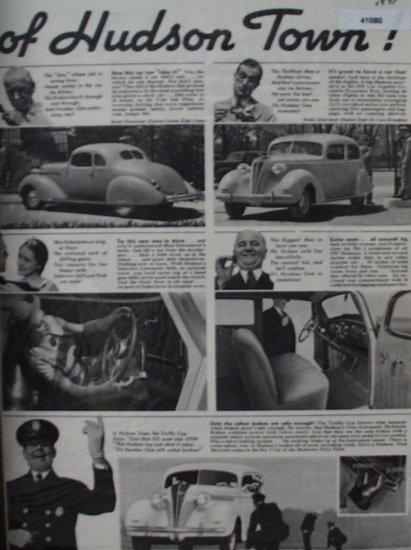 Hudson Car 1937 Ad
