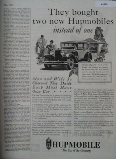 Hupmobile Cars 1928 Ad