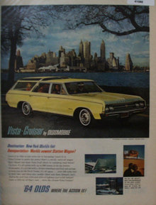 64 Oldsmobile Vista Cruiser Car 1964 Ad