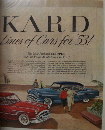 Packard Clipper Car 1953 Ad