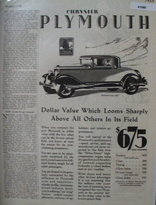 Chrysler Plymouth Car 1928 Ad
