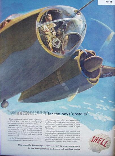 Shell Gasoline 1942 Ad
