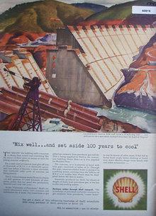 Shell Oil Shasta Dam 1942 Ad