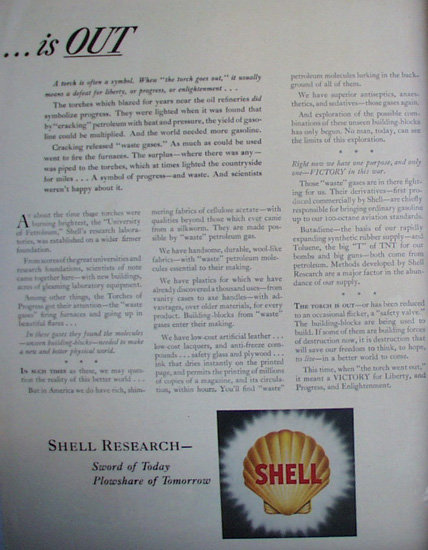Shell Research 1943 Ad.