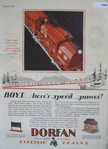 Dorfan Electric Trains 1927 Ad