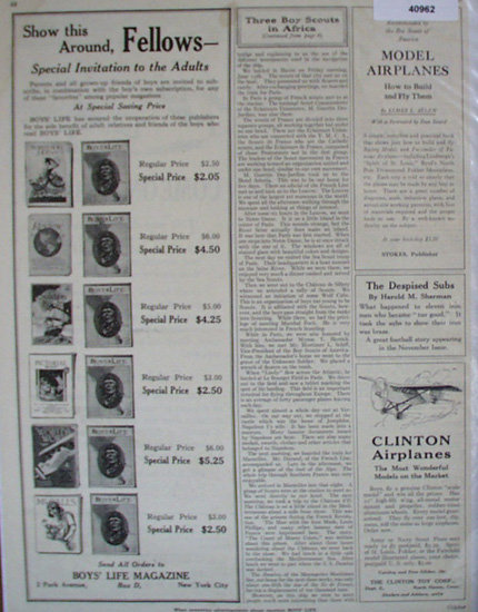 Boys Life Model Airplanes 1928 Ad
