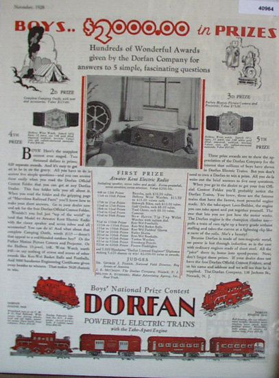 Dorfan Electric Trains 1928 Ad