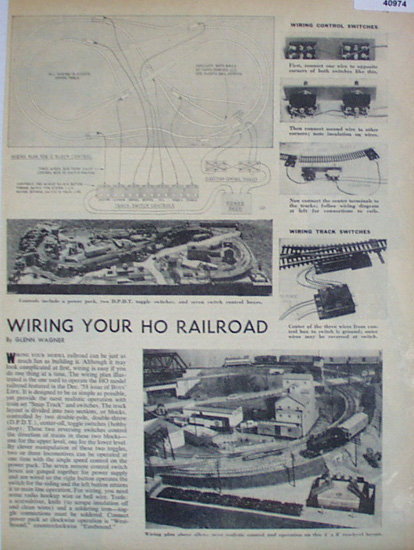 Wiring Your HO Railroad 1959 Article