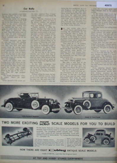 Hubley Antique Scale Models Cars 1962 Ad Hubley