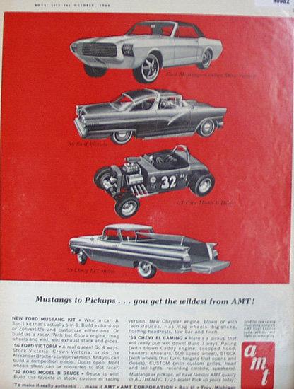 AMT Model Car Kits 1964 Ad Ford Mustang