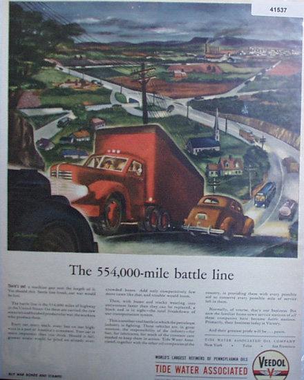 Veedol Motor Oil 1944 Ad on hill