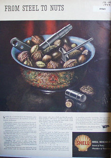 Shell Research 1944 Ad tough nuts