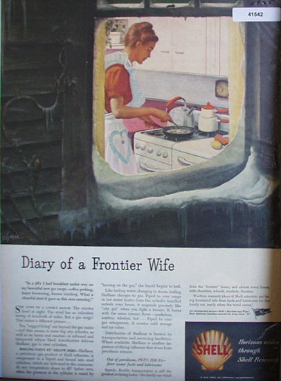 Shell Research 1945 Ad diary of frontier wife