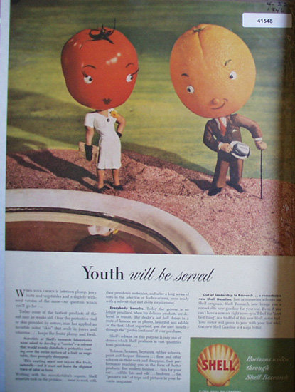 Shell Oil Research 1946 Ad youth will be served