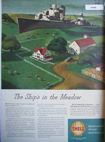 Shell Oil Research 1946 Ad farmers battle rust