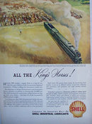 Shell Industrial Lubricants 1946 Ad 6900 horses
