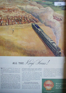 Shell Research Kings Horses 1946 ad 6900 horses
