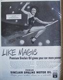 Sinclair Opaline Motor Oil 1947 Ad Lynn Bari