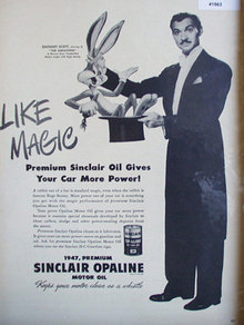 Sinclair Opaline Motor Oil 1947 Ad Zachari Scott
