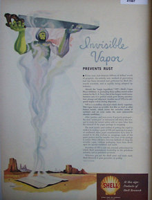 Shell Research Invisible Vapor 1949 Ad Genie